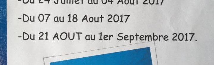 STAGES PENDANT L'ÉTÉ 2017