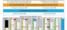 CALENDRIERS DES ACTIVITES (Hors Réservation en ligne)